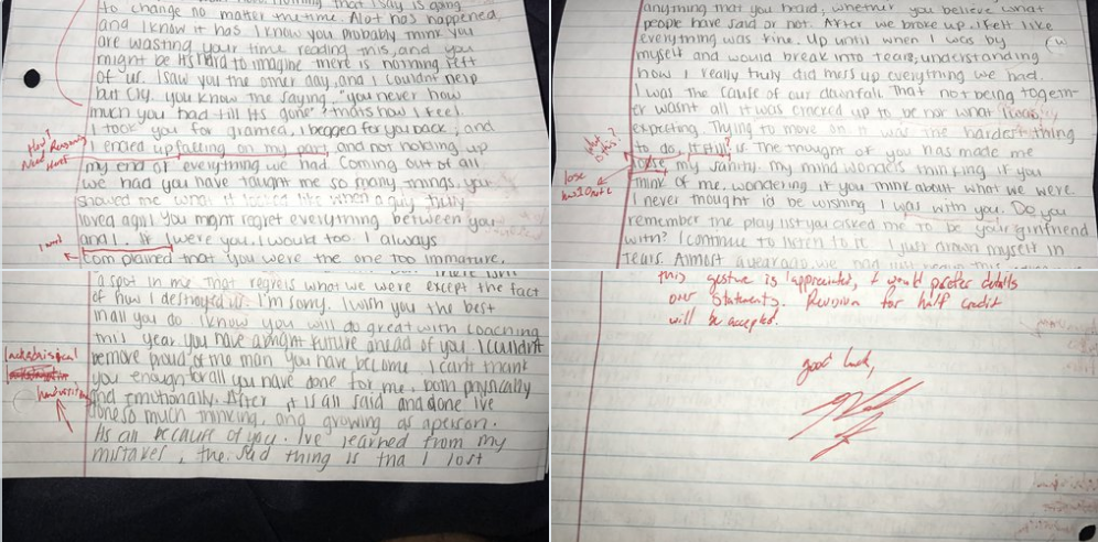 Petty Guy Grades His ExGirlfriends Apology Letter and Sends It