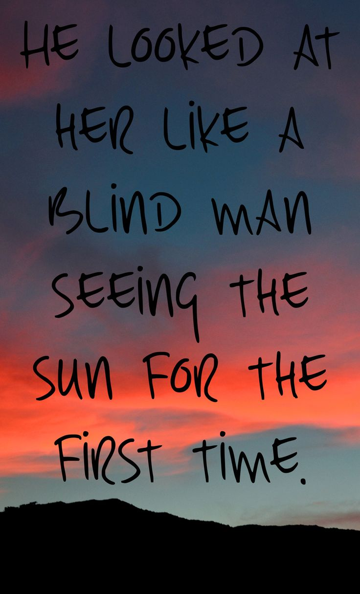 Blind Quotes Quote & Saying About Dating He Looked At Her Like A Blind Man