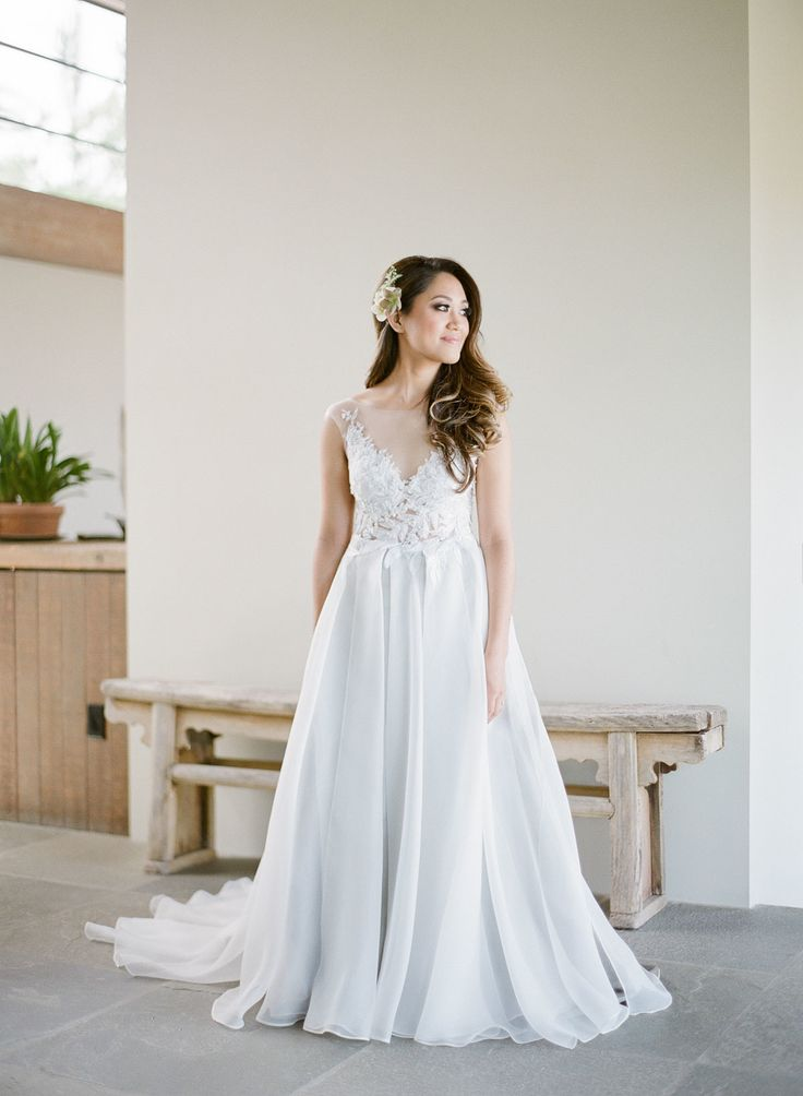 Description. Al Line Powder Blue Wedding Dress: ...